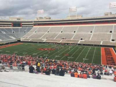 Boone Pickens Stadium, section: 302, row: 22, seat: 33