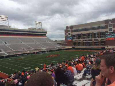 Boone Pickens Stadium, section: 210, row: 27, seat: 11