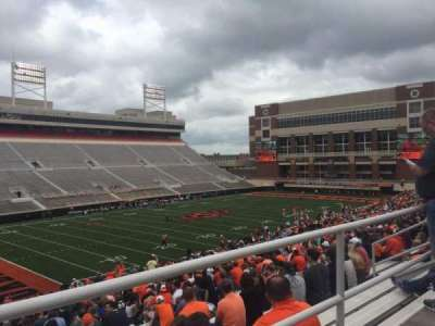 Boone Pickens Stadium, section: 310, row: 1, seat: 18