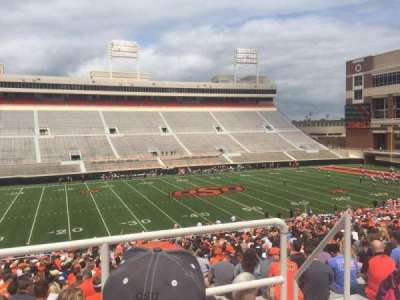Boone Pickens Stadium, section: 308, row: 2, seat: 5