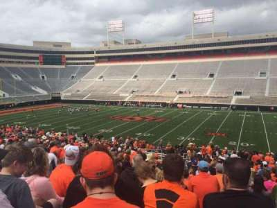 Boone Pickens Stadium, section: 203, row: 29, seat: 13