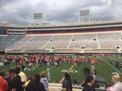 Boone Pickens Stadium, section: 105, row: 10, seat: 16