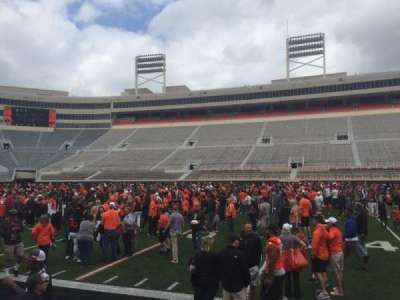 Boone Pickens Stadium, section: 105, row: 1, seat: 7