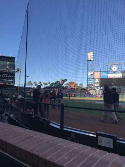 AT&T Park, section: 117, row: Aa , seat: 1