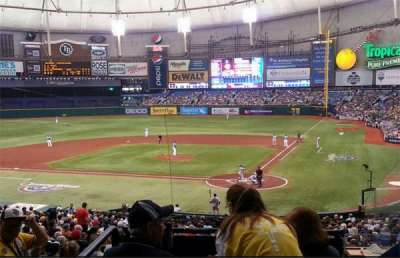 Tropicana Field section 107 Home Club