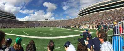 Notre Dame Stadium section F17