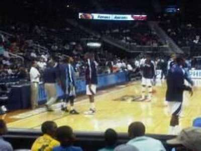 Philips Arena, section: 110, row: Dd, seat: 10