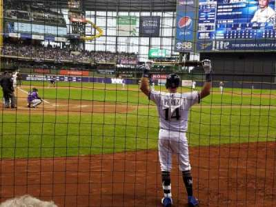 Miller Park, section: 116, row: 2, seat: 7