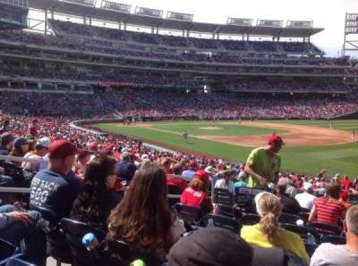 Nationals Park, section: 134, row: HH, seat: 20