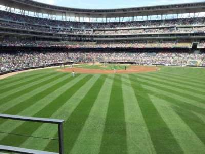 Target Field, section: 133, row: 2, seat: 23