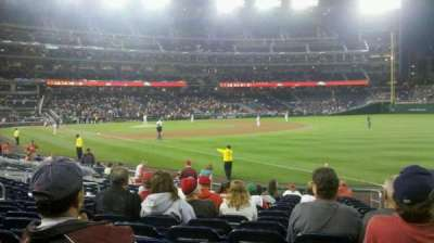 Nationals Park, section: 135, row: U, seat: 3