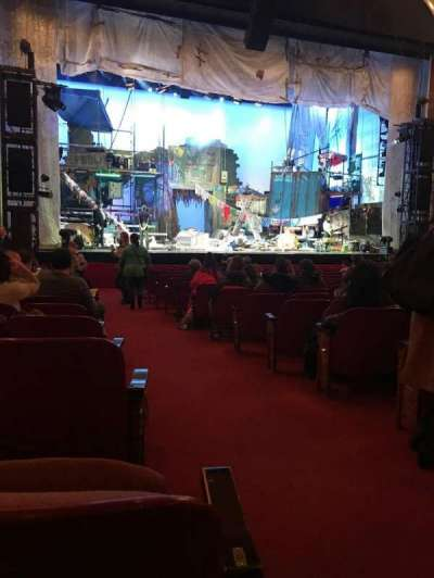 Cadillac Palace Theater, section: Orchestra L, row: P, seat: 1