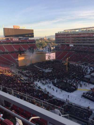 Levi's Stadium, section: 309, row: 6W, seat: 20
