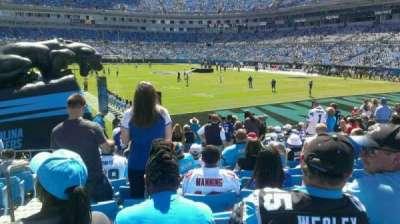 Bank of America Stadium, section: 104, row: 12, seat: 1