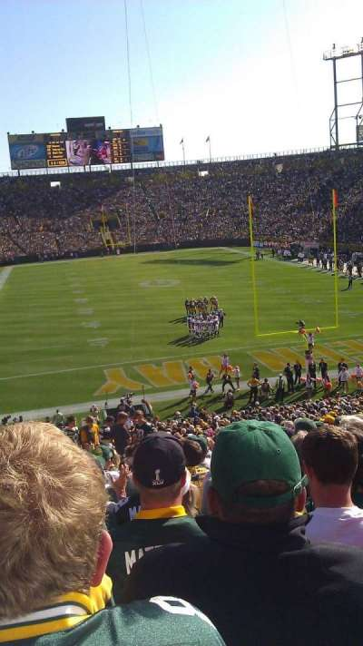 Lambeau Field, section: 101, row: 42, seat: 9
