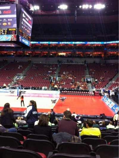 KFC Yum! Center, section: 105, row: S, seat: 6