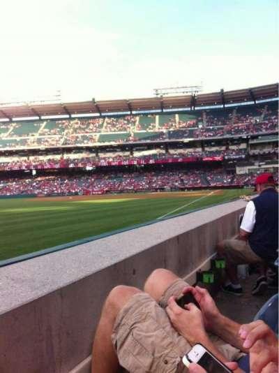 Angel Stadium, section: F105, row: A, seat: 4