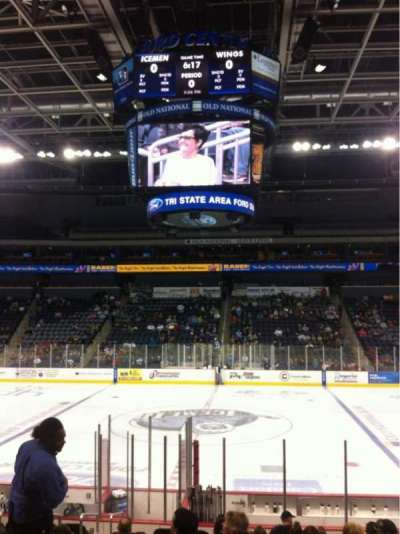 Ford Center (Indiana), section: 105, row: Q, seat: 15