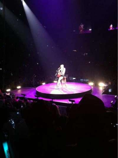 Bridgestone Arena, section: 101, row: JJ, seat: 5