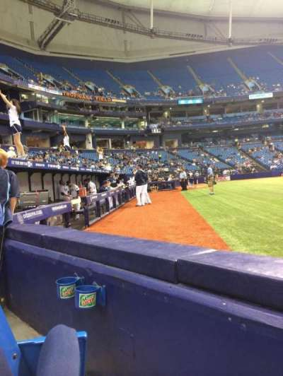 Tropicana Field, section: 120, row: D, seat: 5