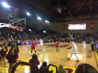 McGuirk Arena, section: 108, row: 2, seat: 2