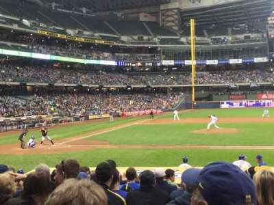 Miller Park, section: 114, row: 16, seat: 10