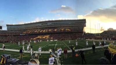 TCF Bank Stadium, section: 112, row: 2, seat: 3