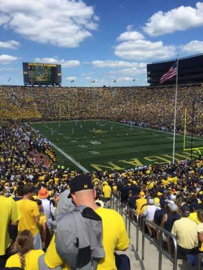 Michigan Stadium, section: 15, row: 59, seat: 15
