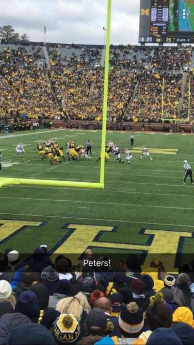 Michigan Stadium, section: 12, row: 16, seat: 24