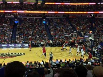 Smoothie King Center, section: 124, row: 21, seat: 13