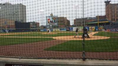 Fifth Third Field, section: 110, row: 1