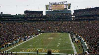 Lambeau Field, section: 302, row: 3, seat: 4