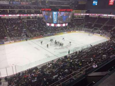 Giant Center, section: 205, row: A, seat: 20