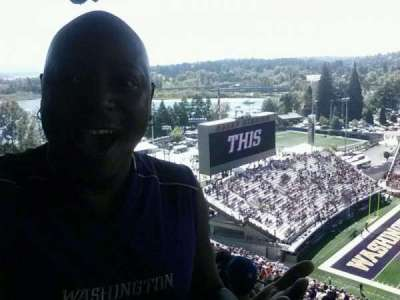 Husky Stadium, section: 330, row: 43, seat: 21