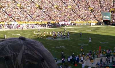 Lambeau Field, section: 112, row: 45, seat: 6