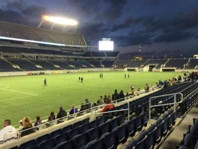 Camping World Stadium section 113