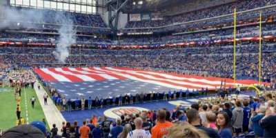 Lucas Oil Stadium, section: 103, row: 18, seat: 1