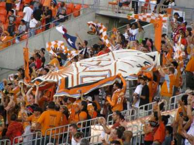 BBVA Compass Stadium, section: 201, row: B, seat: 4