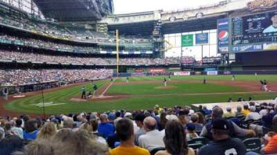 Miller Park, section: 115, row: 17, seat: 9