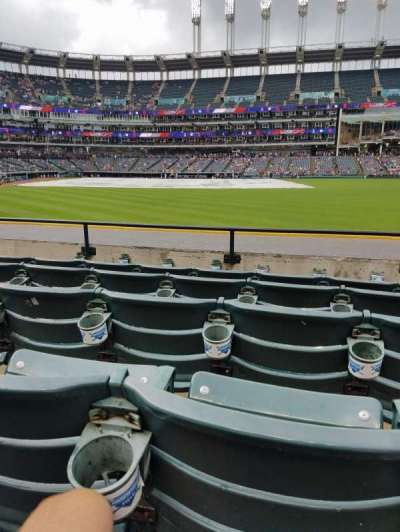 Progressive Field, section: 109, row: E, seat: 19