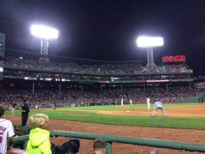 Fenway Park, section: Field Box 19, row: B, seat: 1