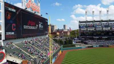Progressive Field, section: 477, row: A, seat: 58