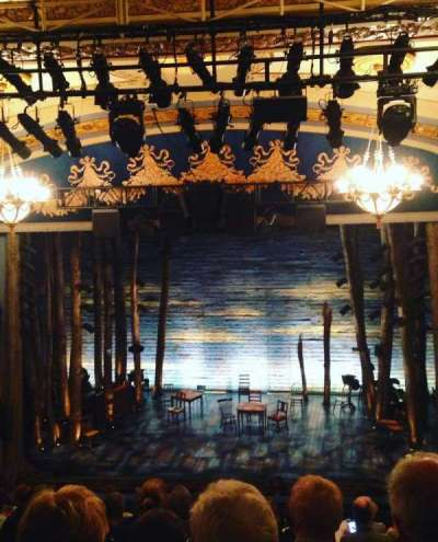 Gerald Schoenfeld theatre, section: Mezz, row: K, seat: 110