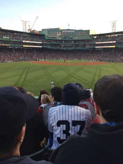 Fenway Park section Bleacher 34