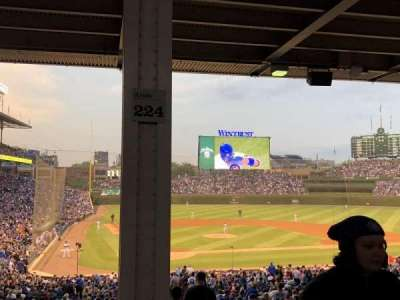 Wrigley Field, section: 224, row: 12, seat: 105