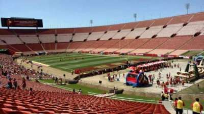 Los Angeles Memorial Coliseum, section: 1L, row: 43, seat: 2