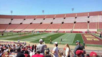 Los Angeles Memorial Coliseum section 4H