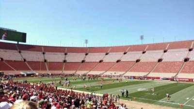 Los Angeles Memorial Coliseum, section: 4H, row: 25, seat: 113