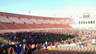 Los Angeles Memorial Coliseum, section: 10H, row: 20, seat: 101
