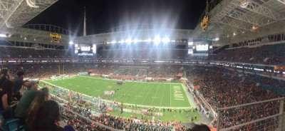 Hard Rock Stadium, section: 315, row: 2, seat: 1